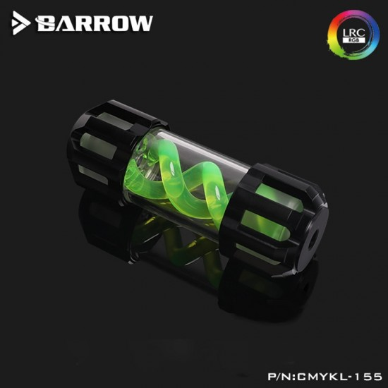 Barrow Composite version of multicolor T Virus 155MM classic Black top cover- Spiral Green