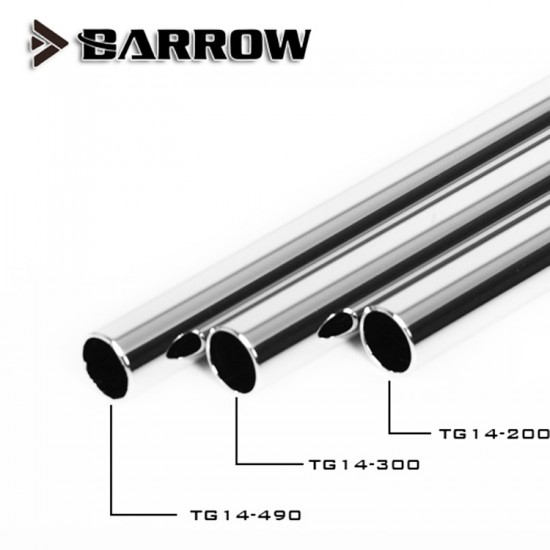 Barrow 12*10 Copper Chrome Plated Metal Rigid Tube ID:10MM OD:12MM Length - 490MM