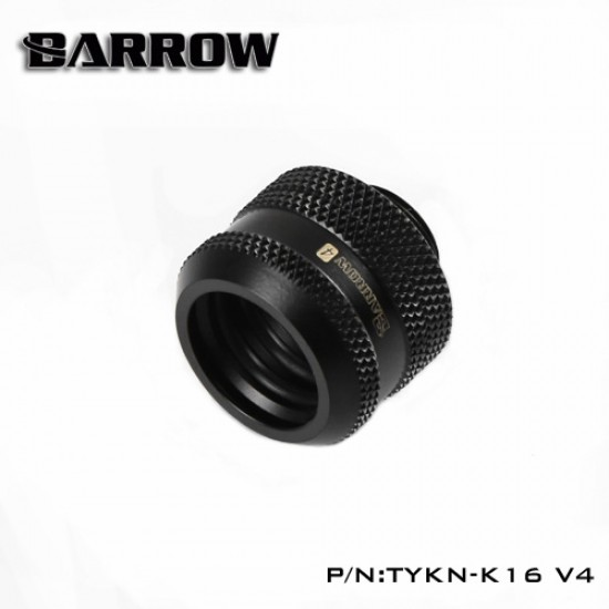 Compression Fitting  V4 - 16mm black