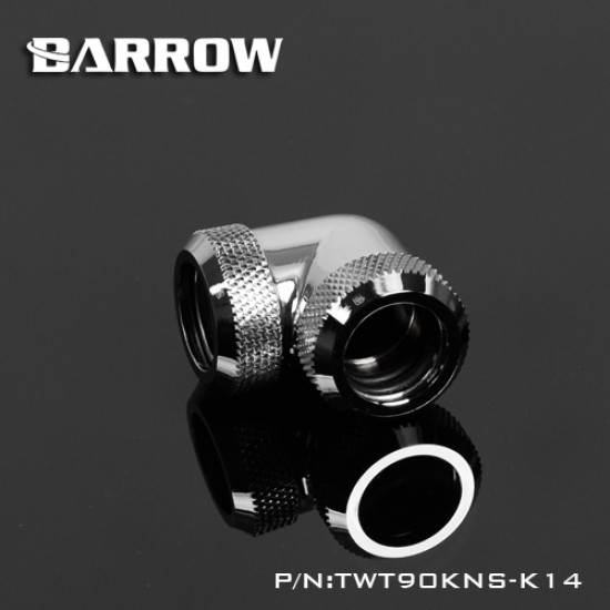 Barrow Double hard tube 90° Multi-Link Adapter 14mm silver