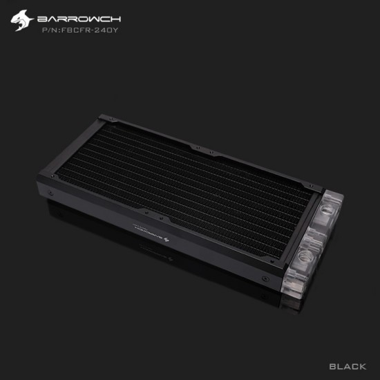 BARROWCH Chameleon Fish series removable 240 radiator Acrylic edition Classic Black (รับประกัน 1 ปี)