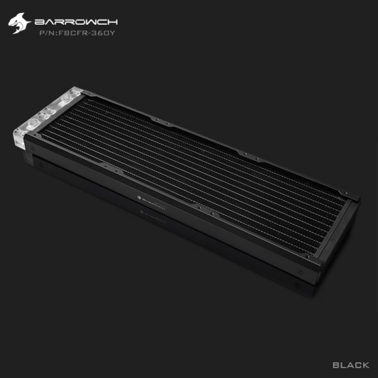BARROWCH Chameleon Fish series removable 360 radiator Acrylic edition Classic Black (รับประกัน 1 ปี)