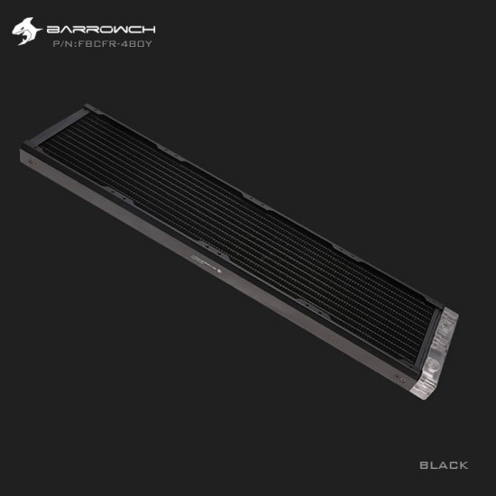BARROWCH Chameleon Fish series removable 480 radiator Acrylic edition Classic Black