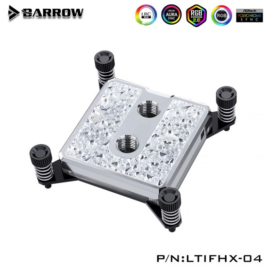 Barrow Icicle series CPU water block for INTEL X99/ X299 platform (Brass Edition)   รับประกัน 1 ปี