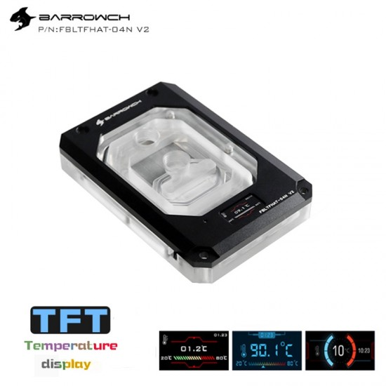 Barrowch  X399 AMD Threadripper Color screen version digital display CPU water block Black (รับประกัน 1 ปี)