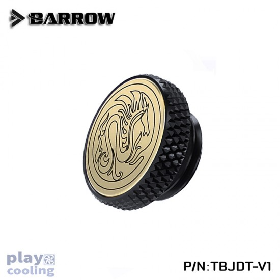 Barrow Mirror Finish Stop Plug Fitting (Limited Edtion) Black