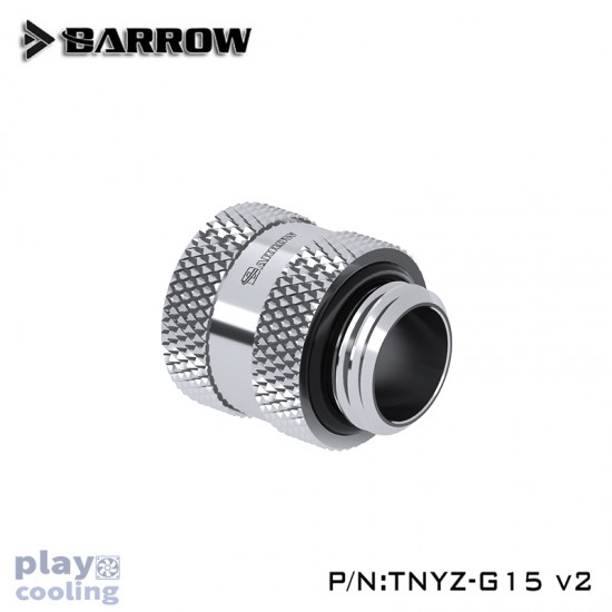Barrow Male to Female Extender V2 - 15mm Silver
