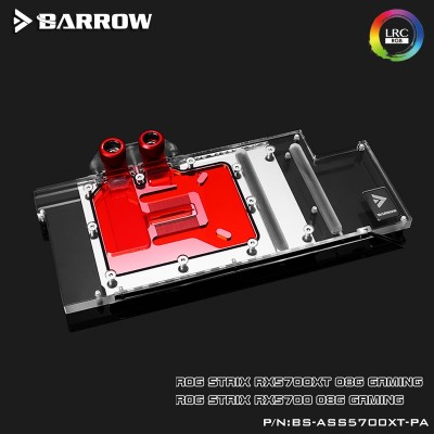 ASUS STRIX 5700XT Full coverage Barrow GPU water block