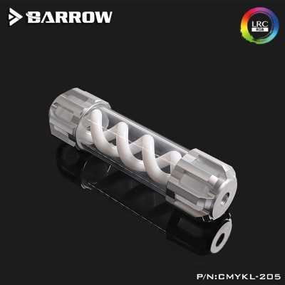 Barrow Composite version of multicolor T Virus 255MM matt silve top cover- spiral White