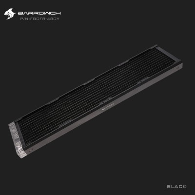 BARROWCH Chameleon Fish series removable 480 radiator Acrylic edition Classic Black (รับประกัน 1 ปี)