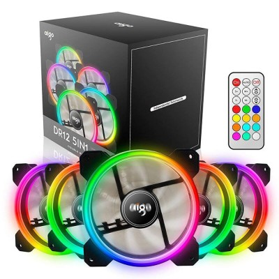 AIGO DR12 ICESTORM DOUBLE RING RGB 120 MM 5 PACK (5ตัว)
