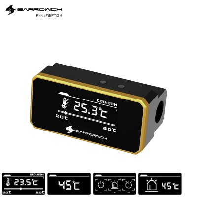 Barrowch multimode OLED display protector with alarm for overheat and Intelligent shutdown Gold(จอ OLED วัดอุหภูมิ มัลติโหมด รับประกัน 1 ปี)