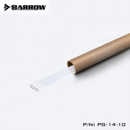 (Set 4Pcs) Barrow PETG Tube 14*10 Transparent 1000mm Set X 4Pcs (ชุดSet ท่อ PETG 14mm ใส ยาว 4 เมตร)