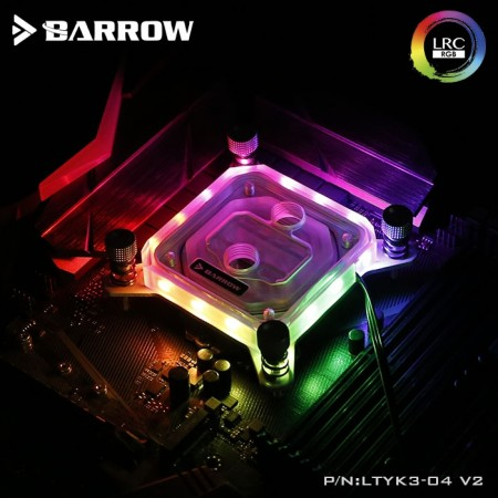 Barrow INTEL 1151/1155 platform Acrylic Aurora CPU water block (รับประกัน 1 ปี)
