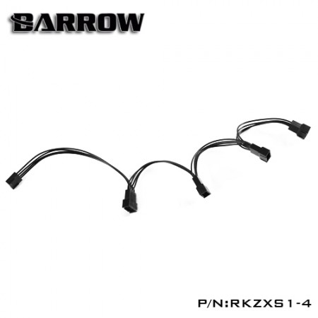 Barrow 12V manual controller  1 point 4 expansion harness  (สายแปลง1ออก4 RGB)