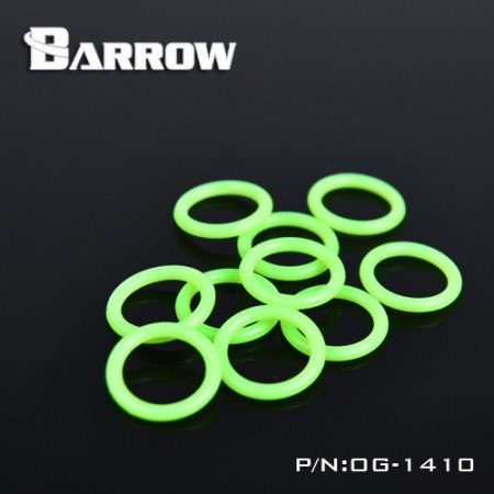 Barrow G1/4 Noctilucent Green Silica Gel O Ring (โอริงสีเขียว g1/4)