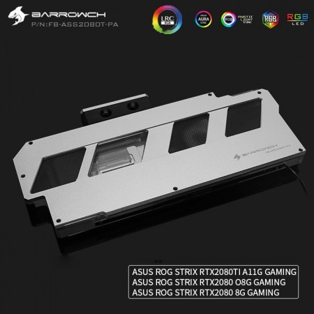 ASUS ROG STRIX RTX2080Ti 2080 Barrowch full coverage GPU water block Aurora Silvery (รับประกัน 1 ปี)