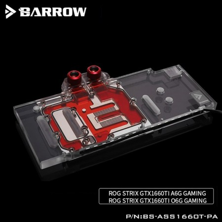 ASUS STRIX GTX1660TI O6G GAMING  Barrow GPU water block