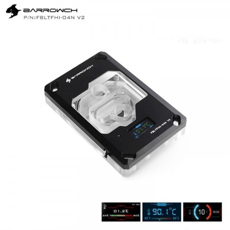 Barrowch AMD RYZEN AM4/AM3 platform Color screen version digital display CPU water block Black (รับประกัน 1 ปี)