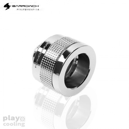 (ระบบล็อกแบบใหม่ Fitting14mm) Barrowch Wolverine series Anti shedding Fitting-OD:14mm Rigid Tubing-Shiny silver