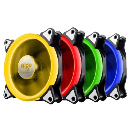 Aigo RGB  Fan 120mm  Pack 4pcs (4ตัว)