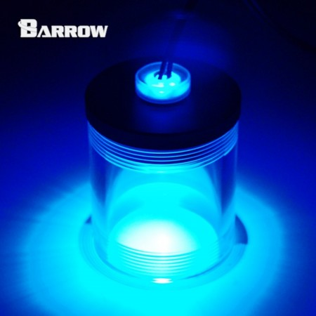 Acrylic Long Stop Plug Fitting- with LED blue
