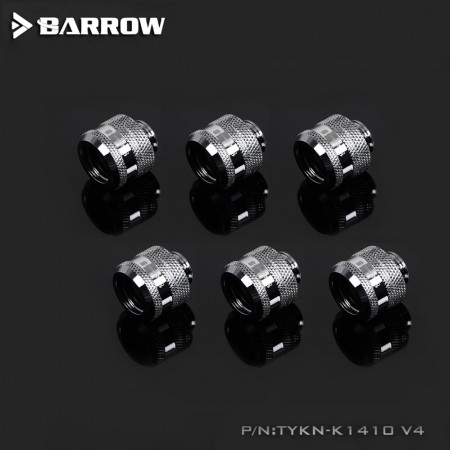 (Set 6Pcs)  Barrow Compression Fitting V4 -14mm Silver