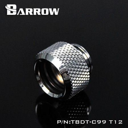 Barrow Push-in Fitting - OD:12mm Rigid Tubing silver