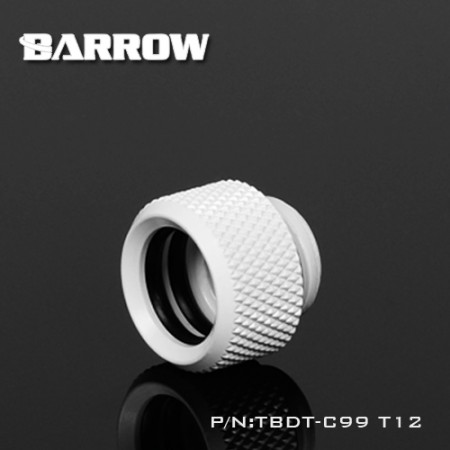 Barrow Push-in Fitting - OD:12mm Rigid Tubing white