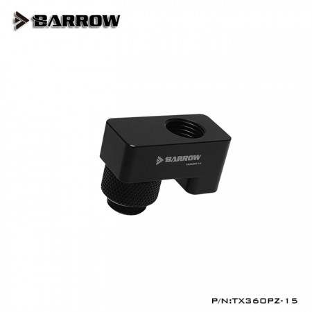 G1/4' 360°rotation offset adapter 15MM black