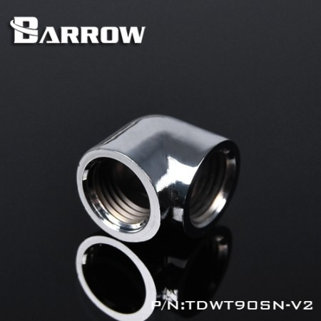 Barrow 90°Adapter ( Female to Felame ) silver