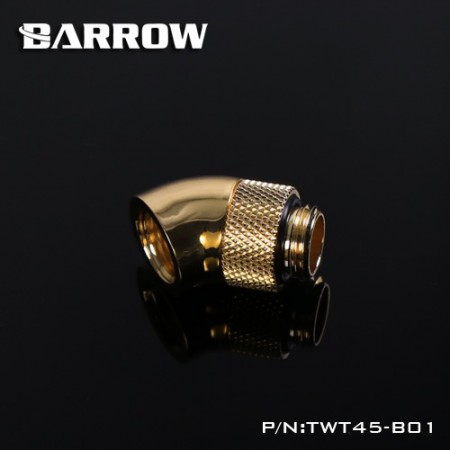 45°Rotary Adapter (Male to Female) gold