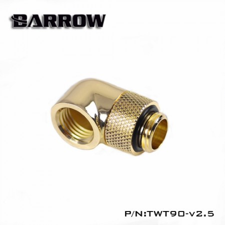90°Rotary Adapter (Male to Female) gold
