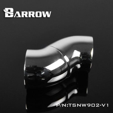 Barrow 90-Degree Snake Rotary Adapter silver