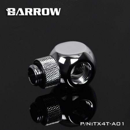 Barrow Rotary Metalic Cube Tee - 4Way silver