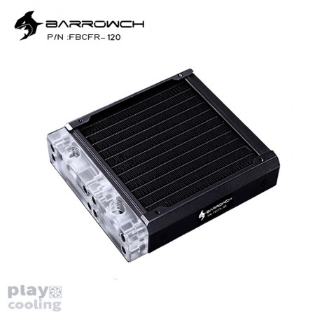 BARROWCH Chameleon Fish series removable 120 radiator Acrylic edition Classic Black (รับประกัน 1 ปี)