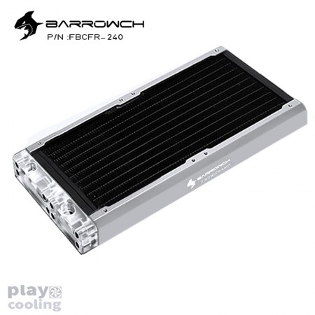 BARROWCH Chameleon Fish series removable 240 radiator Acrylic edition Matt Silver (รับประกัน 1 ปี)