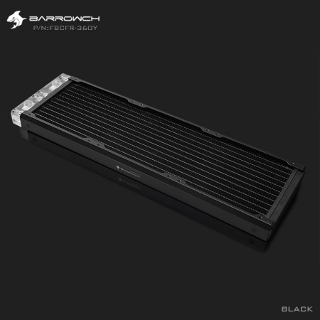 BARROWCH Chameleon Fish series removable 360 radiator Acrylic edition Classic Black