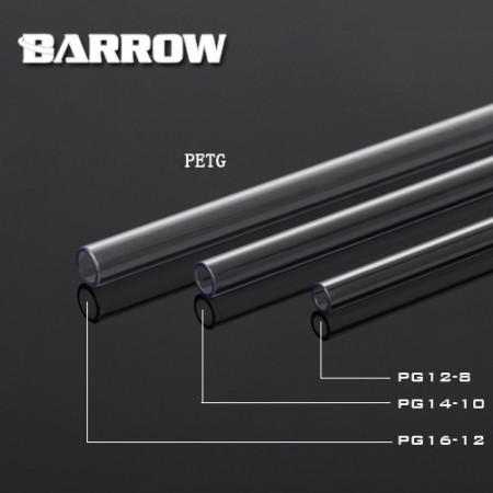 Barrow PETG Tube 12*8 Transparent 1000mm