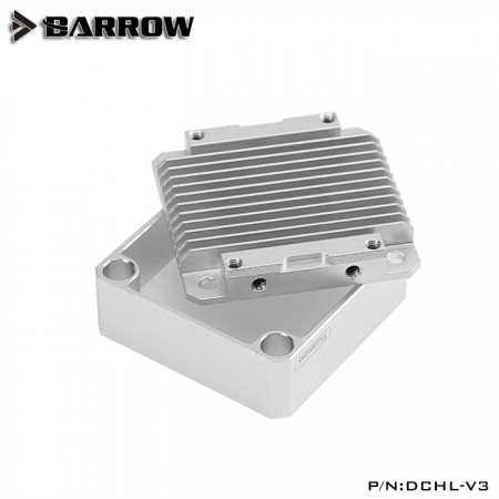 Barrow Special Aluminum Heatsink Top Kit For DDC Pump Matt Silver