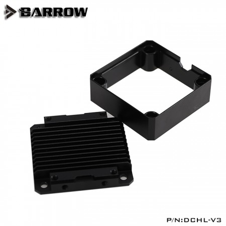 Barrow Special Aluminum Heatsink Top Kit For DDC Pump Black