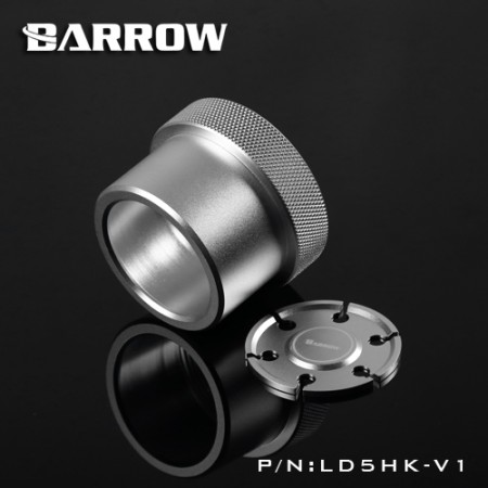 Barrow Special Aluminum Heatsink Top Kit For SPG40A/D5/MCP655 Pump silver  (รับประกัน 1 ปี)