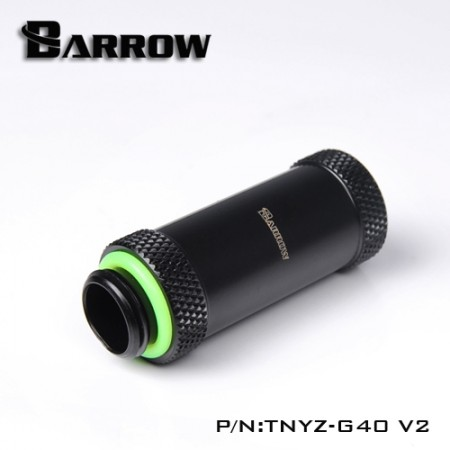 Barrow Male to Female Extender v2 - 40mm black