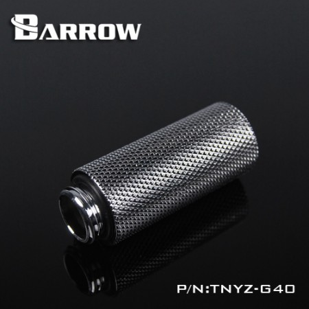 Barrow Male to Female Extender - 40mm silver