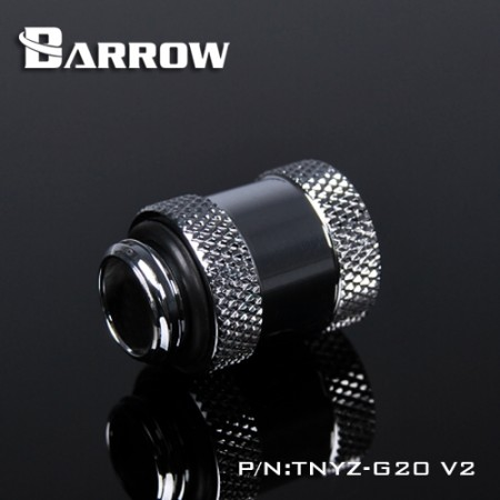Barrow Male to Female Extender v2 - 20mm silver