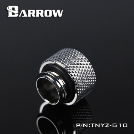 Barrow Male to Female Extender - 10mm silver