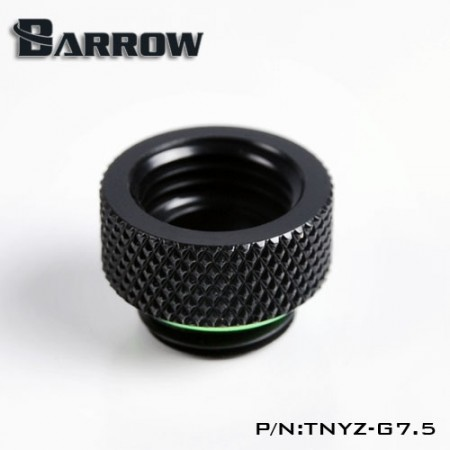 Barrow Male to Female Extender - 7.5mm Black
