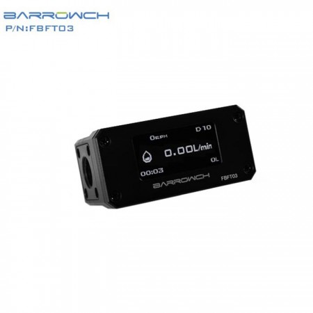 Barrowch Flow meter (OLED) black (Flow meter แบบ OLED แสดงผล )