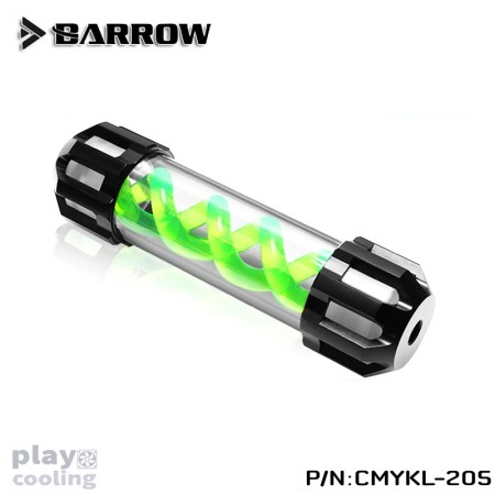 Barrow Composite version of multicolor T Virus 205MM classic Black top cover- Spiral Green