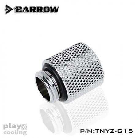Barrow Male to Female Extender - 15mm silver